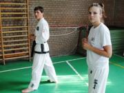 Taekwondo edzésen